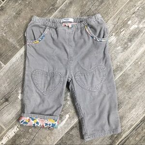 Baby Boden heart corduroy Pants 12 - 18 month